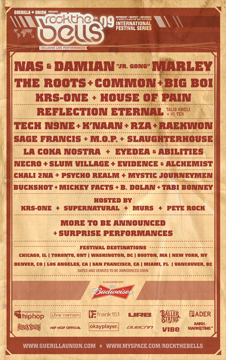 Rock The Bells // 2009 - Line-Up
