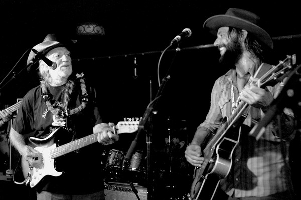Willie Nelson and Ben Bridwell