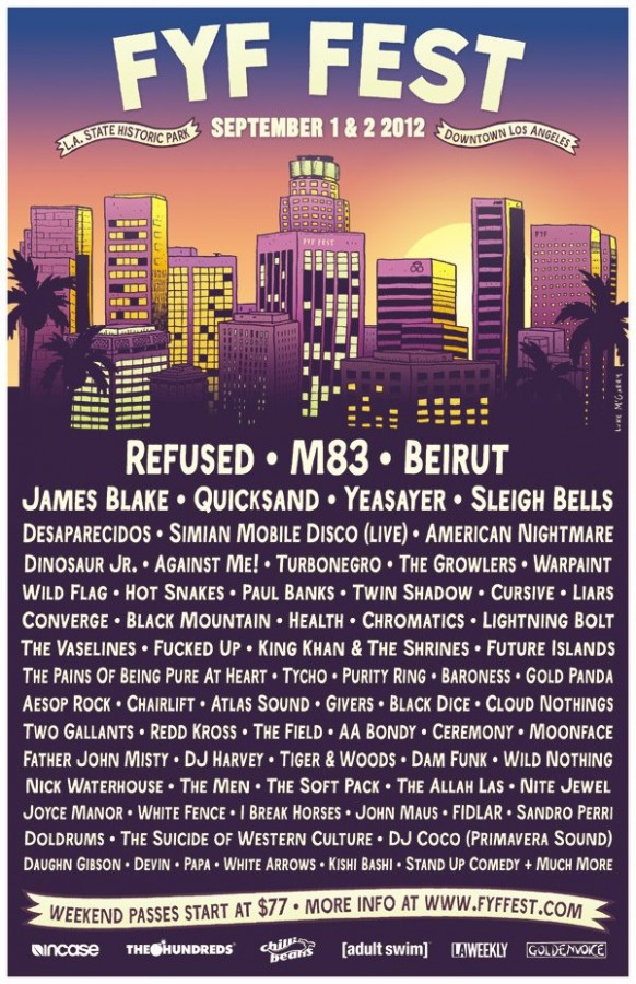 FYF Fest Lineup :: September 1st & 2nd